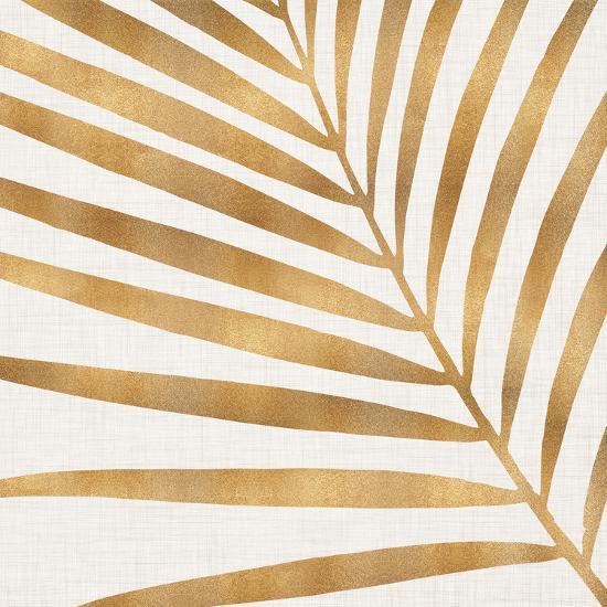 Gold Palm Leaf-Modern Tropical-Art Print