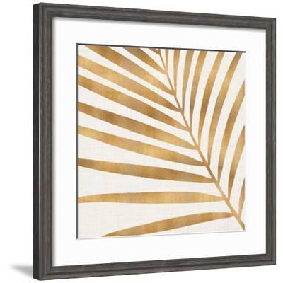 Gold Palm Leaf-Modern Tropical-Framed Art Print