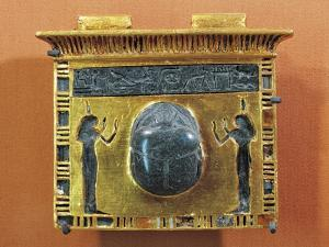 Gold Pectoral with Scarab of Ramses II