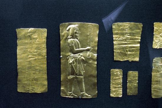 Gold plaques from the Oxus treasure, Achaemenid Persian, 5th-4th century BC. Artist: Unknown-Unknown-Giclee Print