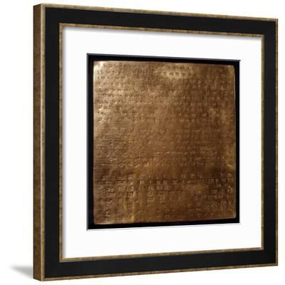 Gold Plate of Darius I, King of Persia--Framed Photographic Print
