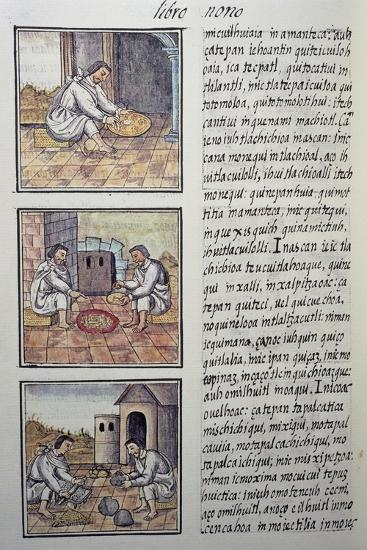 Gold Processing after the Spanish Conquest, Page from the Florentine Codex--Giclee Print