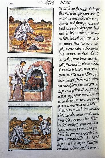Gold Processing by Spanish-Bernardino De Sahagun-Giclee Print