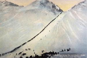 Gold Prospectors Crossing Chilkoot Pass