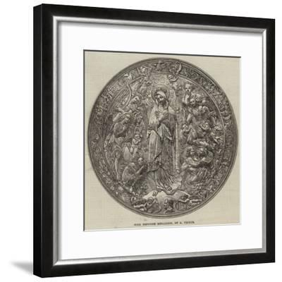 Gold Repousse Medallion, by a Vechte--Framed Giclee Print