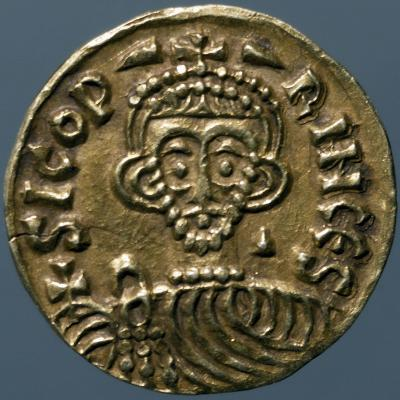 Gold Solidus of Sicone I, Prince of Benevento, Recto, Lombard Coins, 9th Century--Giclee Print