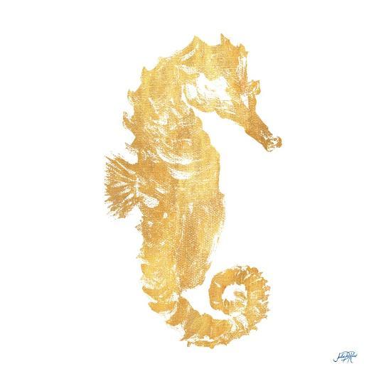 Gold Square Seahorse I-Julie DeRice-Art Print