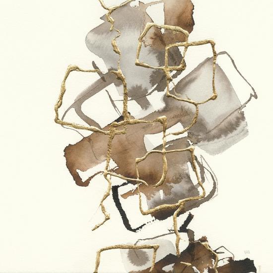 Gold Squares I-Chris Paschke-Art Print