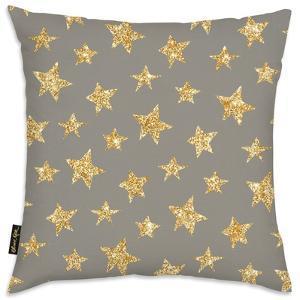 Gold Stars Pattern Throw Pillow