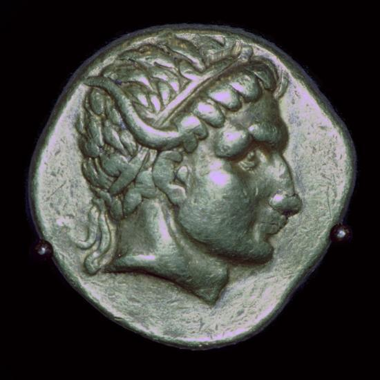 Gold stater of Antiochus I, 3rd century BC. Artist: Unknown-Unknown-Photographic Print