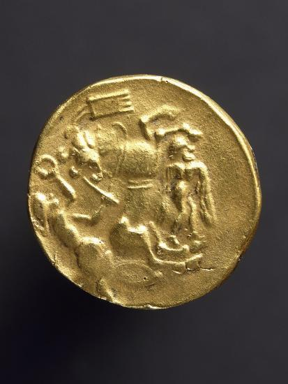 Gold Stater of Coriosoliti, Gauls from Brittany, Verso, Gallic Coins--Giclee Print