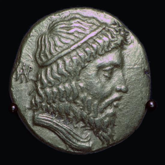 Gold Stater of King Andragoras of Parthia, 3rd century BC. Artist: Unknown-Unknown-Giclee Print
