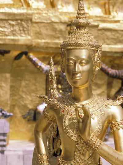 Gold Statue at Wat Phra Kaew Temple, Grand Palace, Bangkok, Thailand-Paul Souders-Photographic Print