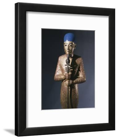 Gold statue of Ptah, god of Memphis, Ancient Egyptian, 18th dynasty, c1333-1324 BC-Werner Forman-Framed Photographic Print
