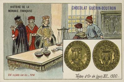 Gold Teston of Louis XII, 1500--Giclee Print