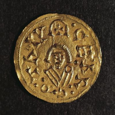 Gold Triens of Recared I, King of Visigoths in Spain, Verso, Visigothic Coins, 6th-7th Century--Giclee Print