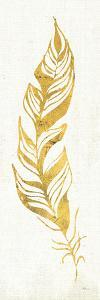 Gold Water Feather I