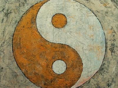 Gold Yin And Yang-Michael Creese-Art Print