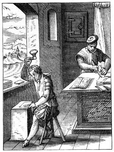 Goldbeater, 16th Century-Jost Amman-Giclee Print