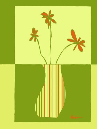 Minimalist Flowers in Green III