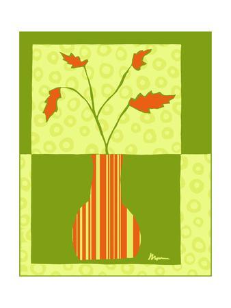 Minimalist Flowers in Green IV