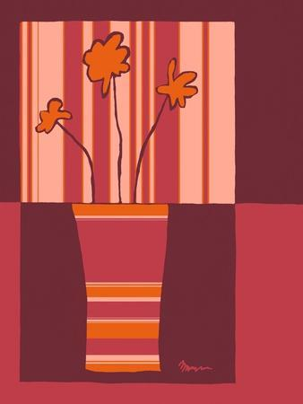 Minimalist Flowers in Orange IV