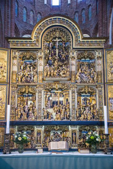 Golden Altar in the Cathedral of Roskilde, Denmark-Michael Runkel-Photographic Print