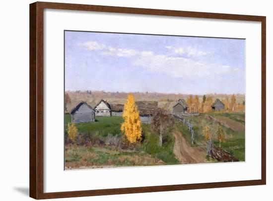 Golden Autumn. Slobodka, 1889-Isaak Ilyich Levitan-Framed Giclee Print