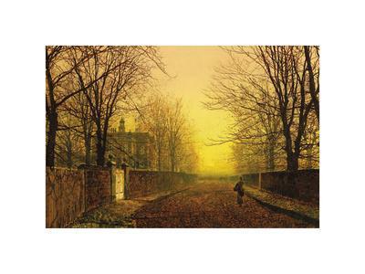 Golden Autumn-John Atkinson Grimshaw-Premium Giclee Print