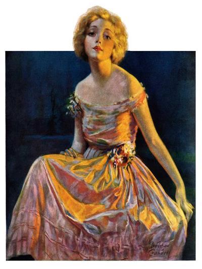 """""""Golden Ball Gown,""""October 23, 1926-Bradshaw Crandall-Giclee Print"""