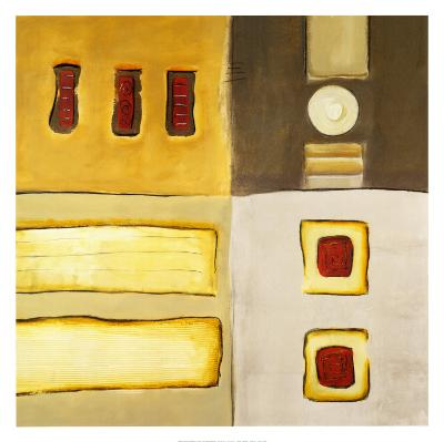 Golden Bars-Lisa Ridgers-Art Print