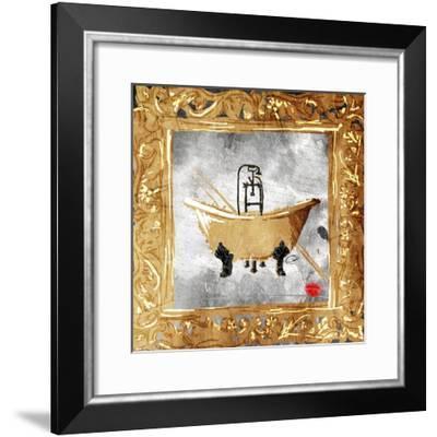 Golden Bath Kiss-OnRei-Framed Art Print