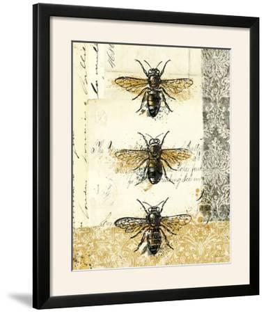 Golden Bees n Butterflies No 1-Katie Pertiet-Framed Photographic Print