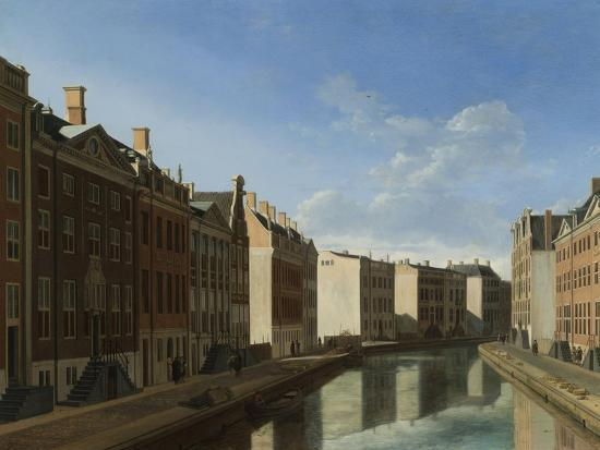 Golden Bend in the Herengracht, Amsterdam-Gerrit Adriaensz Berckheyde-Art Print