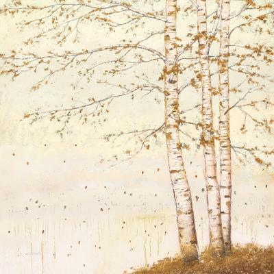 Golden Birch II Off White-James Wiens-Art Print