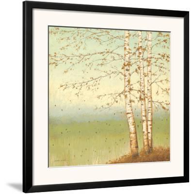 Golden Birch II with Blue Sky-James Wiens-Framed Art Print