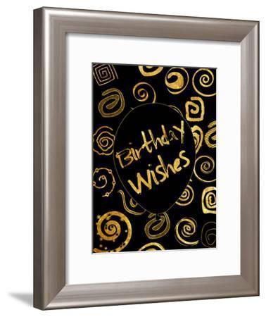 Golden Birthday Wishes-Sheldon Lewis-Framed Art Print