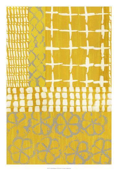 Golden Blockprint I-Chariklia Zarris-Giclee Print