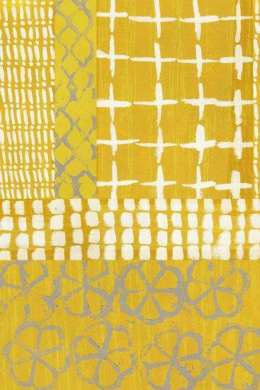 Golden Blockprint I-Chariklia Zarris-Art Print
