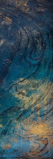 Golden Blue Marble Mate-Jace Grey-Art Print