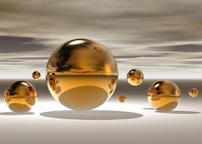 Golden Bowl II-Peter Hillert-Art Print