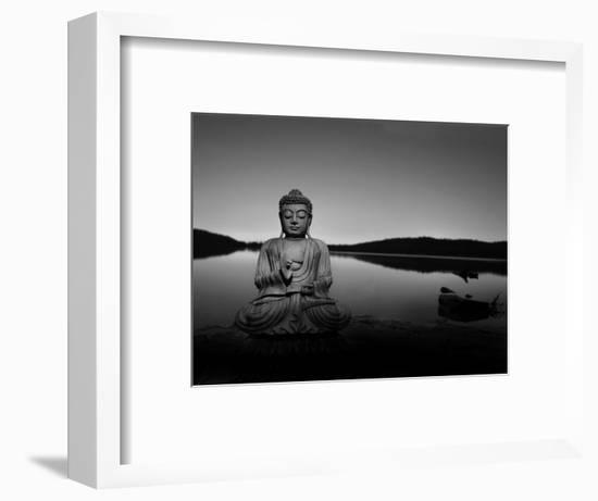 Golden Buddha Lakeside-Jan Lakey-Framed Photographic Print