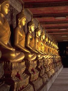 Golden Buddhas, Bangkok, Thailand