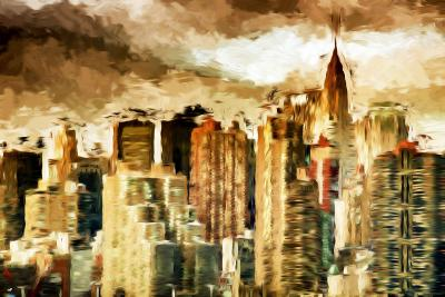 Golden Buildings - In the Style of Oil Painting-Philippe Hugonnard-Giclee Print