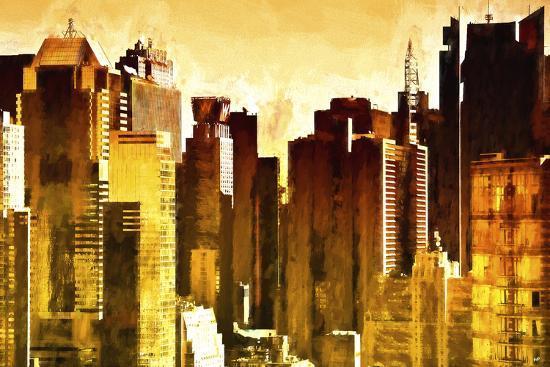 Golden Buildings-Philippe Hugonnard-Giclee Print