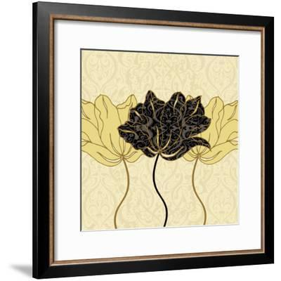 Golden Cluster I-Linda Wood-Framed Art Print