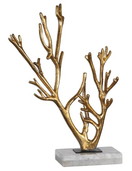 Golden Coral Sculpture--Home Accessories