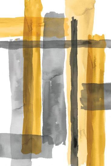 Golden Criss Cross-Eva Watts-Art Print