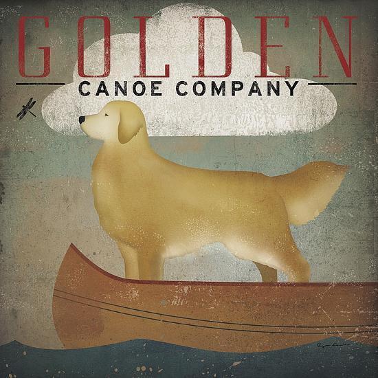 Golden Dog Canoe Co.-Ryan Fowler-Art Print