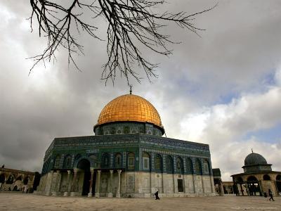Golden Dome of the Rock Mosque inside Al Aqsa Mosque, Jerusalem, Israel-Muhammed Muheisen-Photographic Print